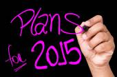 Plans for 2015 written on a transparent board — Stock Photo