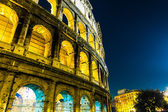 The Colosseum at night in Rome, Italy. — Stock Photo