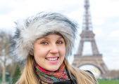 Eiffel Tower tourist in Paris, France. — Stock Photo