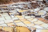 View of Salt ponds, Maras, Cuzco, Peru — Stock Photo