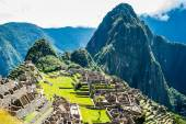 Machu Picchu, a Peruvian Historical Sanctuary in 1981 and a UNESCO World Heritage Site in 1983. One of the New Seven Wonders of the World — Stock Photo