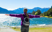 Traveller enjoy a great time in New Zealand — Stock Photo