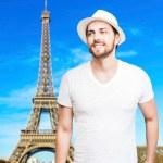 Tourist in Paris, France — Stock Photo #62739223