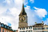 Zurich's Clock Tower, Switzerland. — Stock Photo