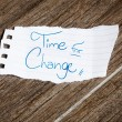 Time for change written on the paper — Stock Photo #62879237