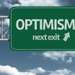 Optimism, next exit creative road sign — Stock Photo #62878773