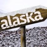 Alaska wooden sign — Stock Photo #62879219