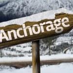Anchorage, Alaska wooden sign — Stock Photo #62879569