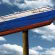 Russia flag wooden sign — Stock Photo #62879621