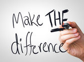 Make the difference hand writing — Stock Photo
