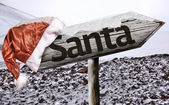 Amazing Santa wooden sign — Stock Photo