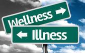 Wellness x Illness creative sign — Stock Photo