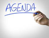 Agenda hand writing — Stock Photo