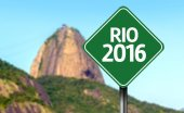 Rio 2016 sign — Stock Photo