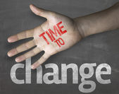 """Message """"Time to Change"""" — Stock Photo"""