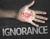 Stop Ignorance on the blackboard — Stock Photo