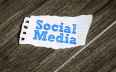 Social Media written on a paper — Stock Photo