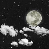 Night sky with stars — Stock Photo