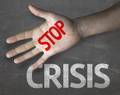 Message Stop Crisis — Stock Photo