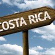 Costa Rica text wooden sign — Stock Photo #62880481