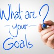 What are your goals hand writing — Stock Photo #62880781
