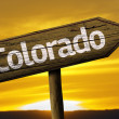 Colorado wooden sign — Stock Photo #62881759