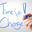 Time For Change hand writing — Stock Photo #62882107