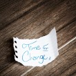 Time for change written on the paper — Stock Photo #62882989