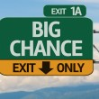 Creative Big Chance Exit Only — Foto Stock #62884463