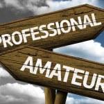 Professional x Amateur creative sign — Stock Photo #62884525