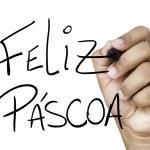 Feliz Pascoa hand writing — Stock Photo #62885261