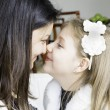 Mom and daughter having fun together at home — Stock Photo #62885489