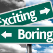 Exciting x Boring creative sign — Stock Photo #62885647