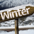 Winter wooden sign — Stock Photo #62886045