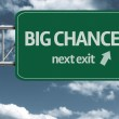 Big Chance, next exit creative road sign — Zdjęcie stockowe #62886361