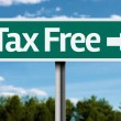 Tax Free creative green sign — Stock Photo #62887491