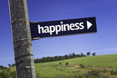 Happiness creative sign — Stock Photo