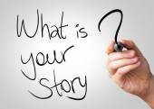 What is your story hand writing — Stock fotografie