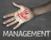 Time to Management on the blackboard — Stock Photo