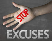 Message Stop Excuses — Stock Photo