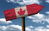 Canada flag wooden sign — Stock Photo