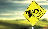 Whats Next creative sign — Stock Photo
