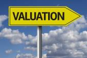 Valuation creative sign — Stock Photo