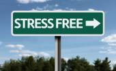 Stress Free creative sign — ストック写真