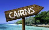 Drewniany znak Cairns — Zdjęcie stockowe
