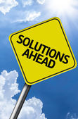 Solutions Ahead creative sign — Stock Photo
