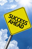 Success Ahead creative sign — Stock Photo