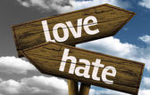 Love x Hate creative sign — Stock Photo