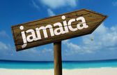 Jamaica wooden sign — Stock Photo