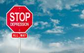 Stop Depression creative sign — Stock Photo